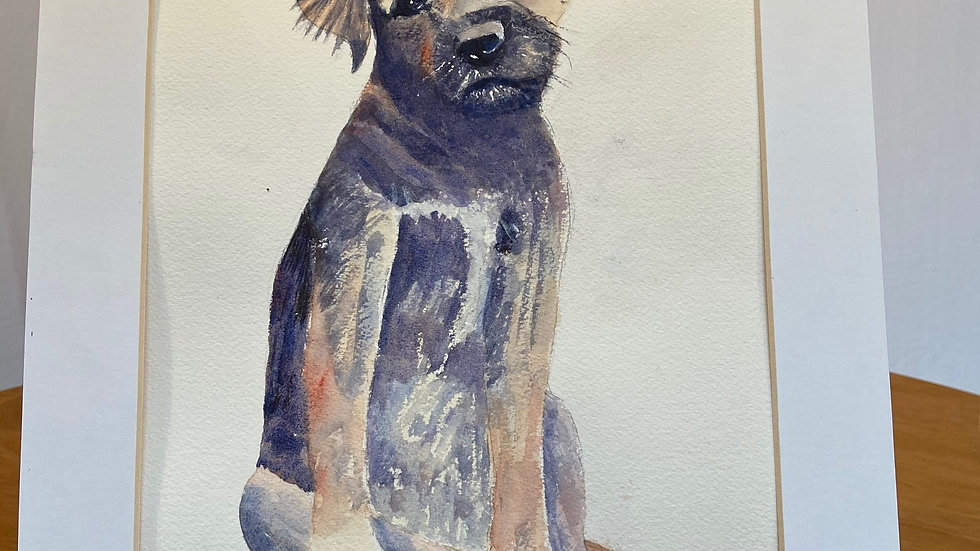 Boarder Terrier Painting
