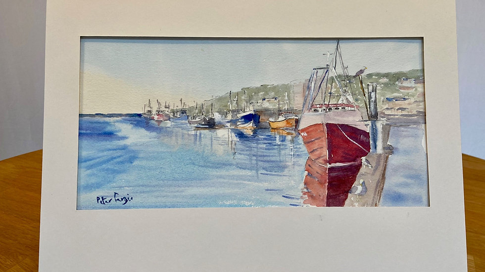 Newlyn Harbour Painting