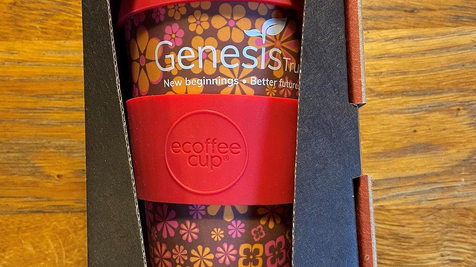 Retro Flower Genesis Trust Bath Travel Cup