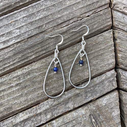 Petal Earrings - Silver