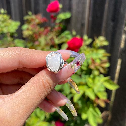 Rose Quartz - Mini Rizzo Ring
