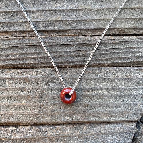 Donut Pendant - Red Jasper