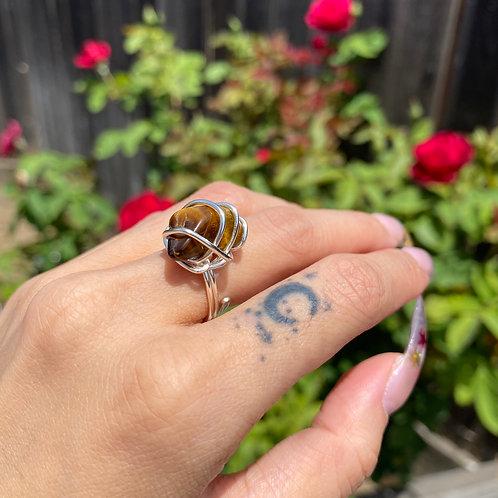 Tiger's Eye - Mini Rizzo Ring
