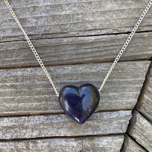Blue Goldstone - Amor Necklace