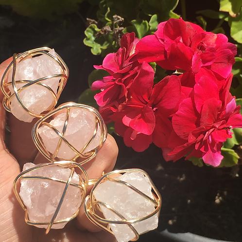 Rose Quartz - Rizzo Ring