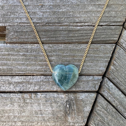 Green Fluorite - Amor Necklace
