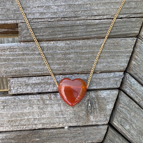 Red Agate - Amor Necklace