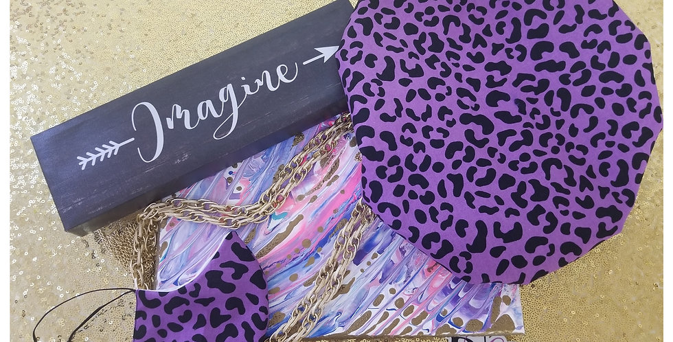 Leopard Bonnet/Mask Set