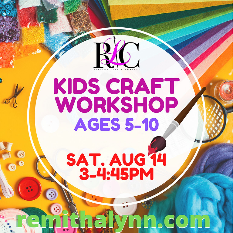 Kid's Craft Workshop Let's Paint