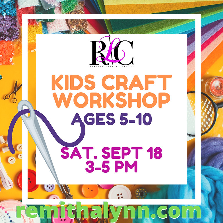 Kid's Craft Workshop Let's Sew