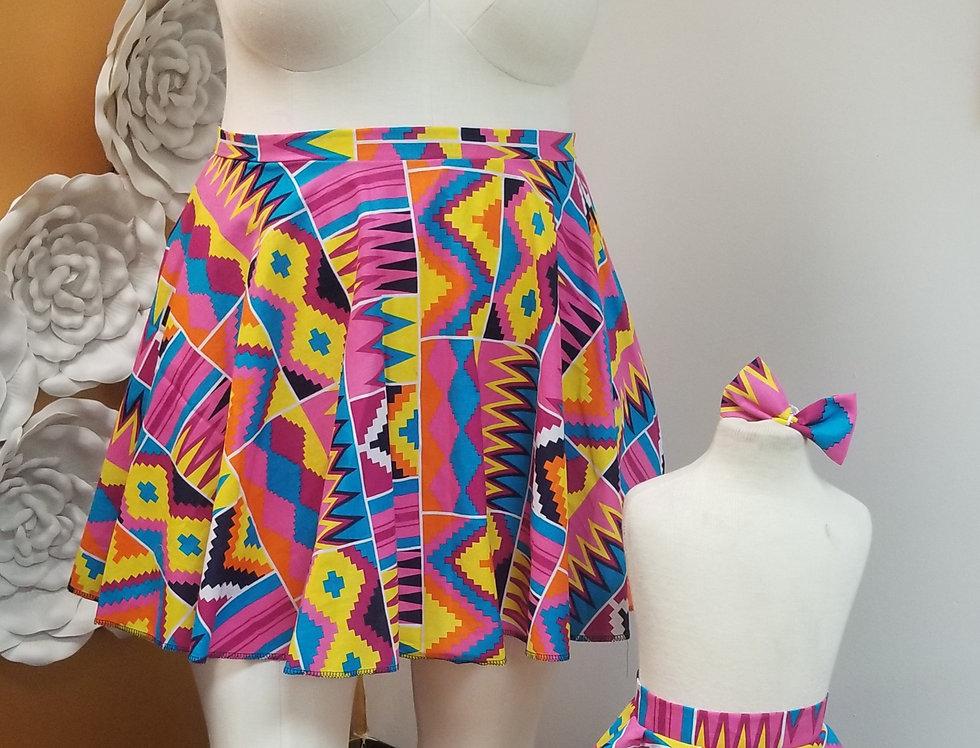 Bright Kente Skirt Adult