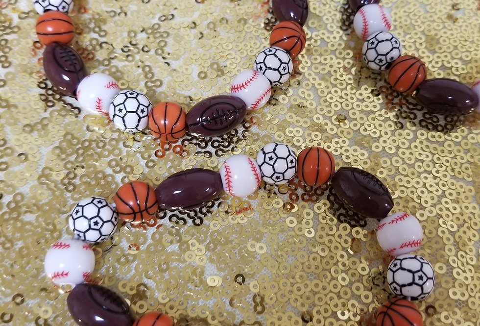 Sports of All Sorts  Beaded Bracelet Des