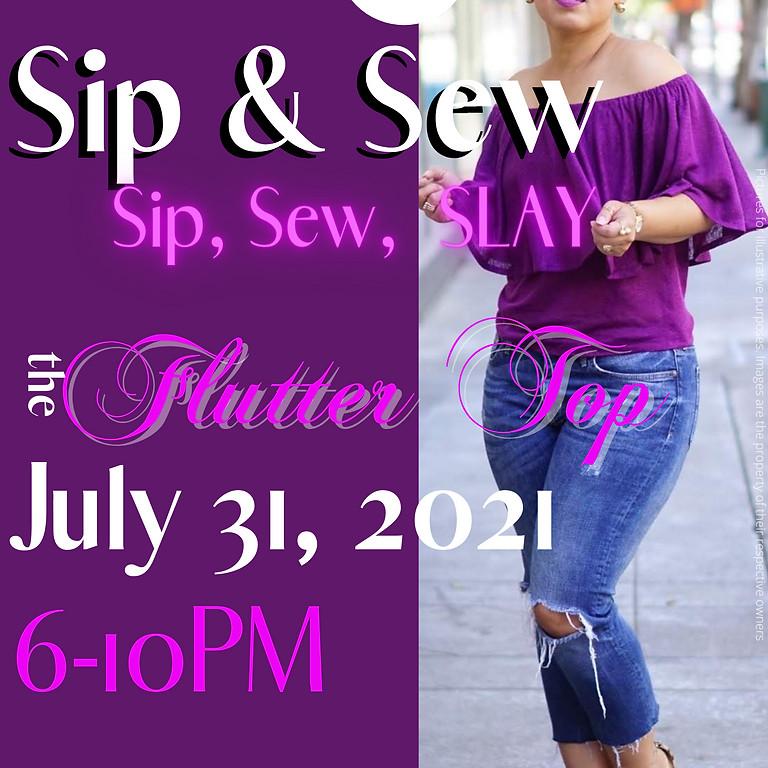 Sip & Sew the Flutter Top