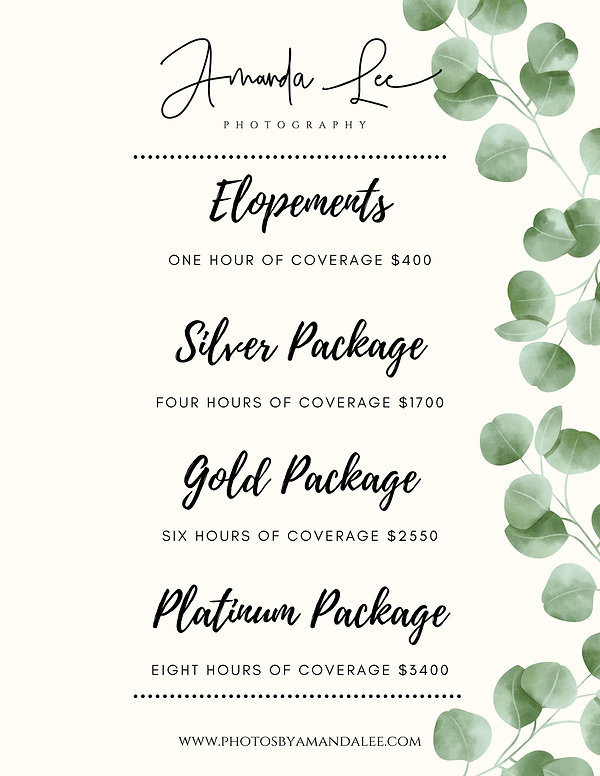 White and Gold Collage Wedding Menu (1).