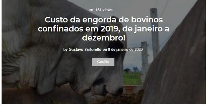 Custo da engorda de bovinos confinados e
