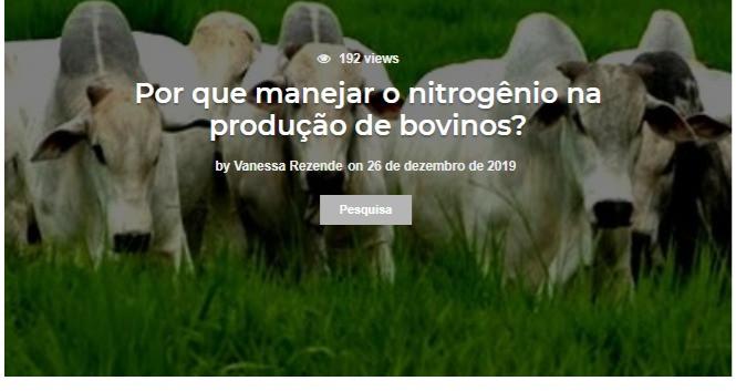 Por que manejar o nitrogênio na produção