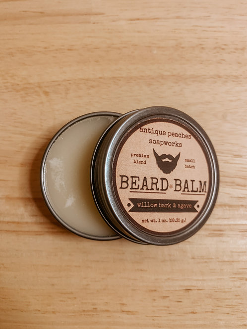 willow bark & agave beard balm