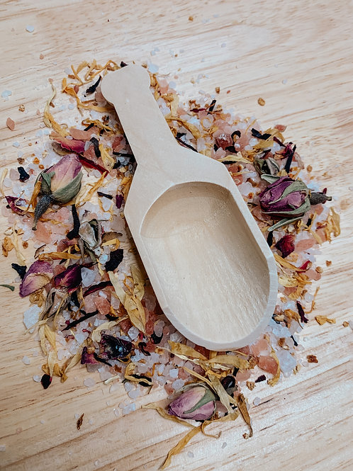bath salt scoop