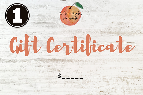Gift Certificate (E-Mail Delivery)