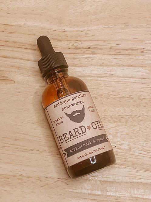 willow bark & agave beard oil