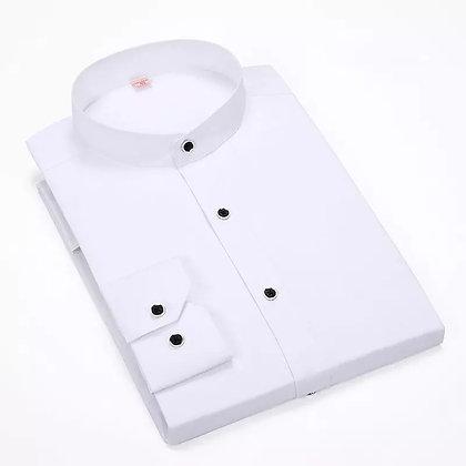 Casual Mandarin Stand collar Long sleeves Shirt