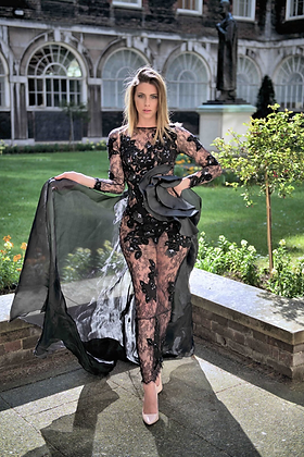 copy of SEXY DIAMANTE EMBROIDERY LACE EVENING DRESS