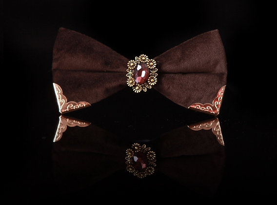 Royal Luxury Brown Bow Tie