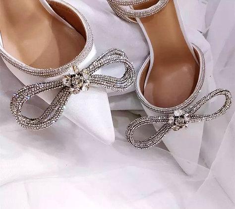 Crystal Bow knots Satin Summer Heels