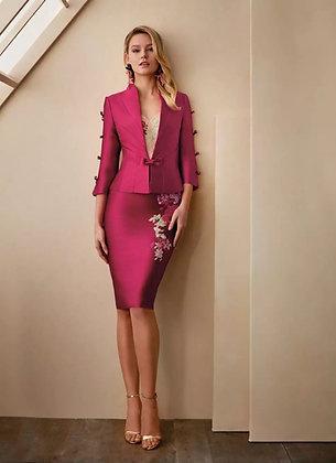 Elegant Knee lenght Lace appliqué Dress