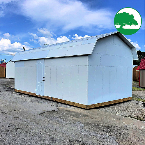 "PRE-OWNED 12' x 24' Insulated ""Lofted High Barn"""