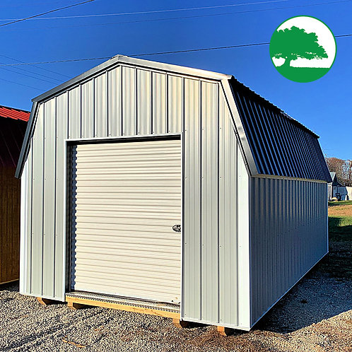 "*SOLD* *DEMO* 12' x 20' Metal ""Lofted Barn"""
