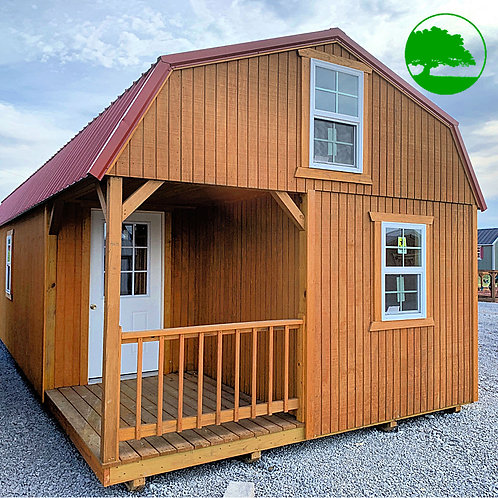 "PRE-OWNED 14' x 40' Treated ""Lofted Cottage"""
