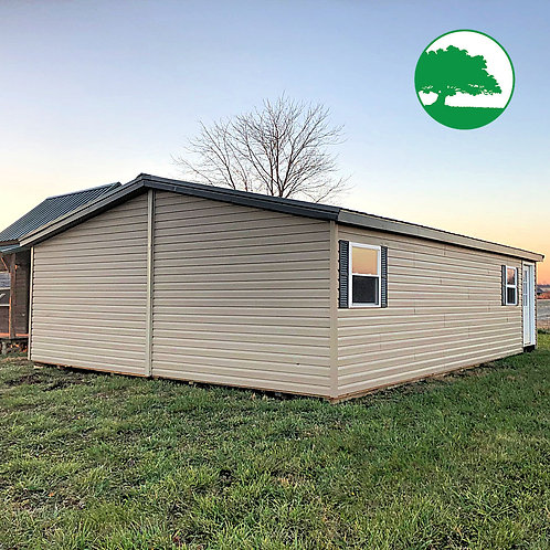 """*SOLD* PRE-OWNED 24' x 32' Vinyl """"Double Wide"""""""