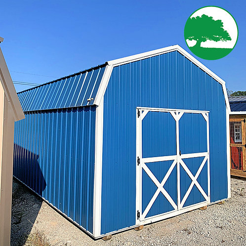 """*SOLD* PRE-OWNED 12' x 24' Metal """"Lofted Barn"""""""