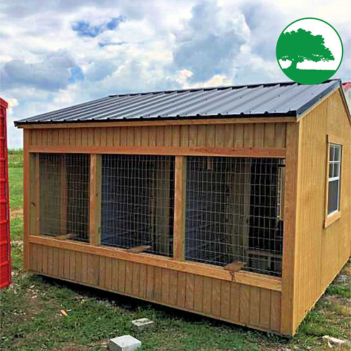 "*SOLD* PRE-OWNED 12' x 12' Treated ""Animal Shelter"""