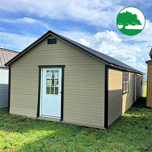 "PRE-OWNED 14' x 40' Painted ""Garden Cabin"""