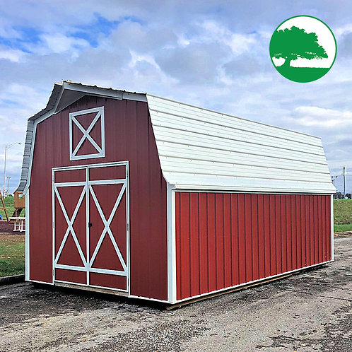 "PRE-OWNED 12' x 20' Metal ""Lofted Barn"""