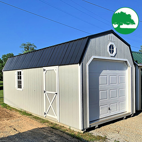 "PRE-OWNED 10' x 24' Painted ""Lofted Garage"""