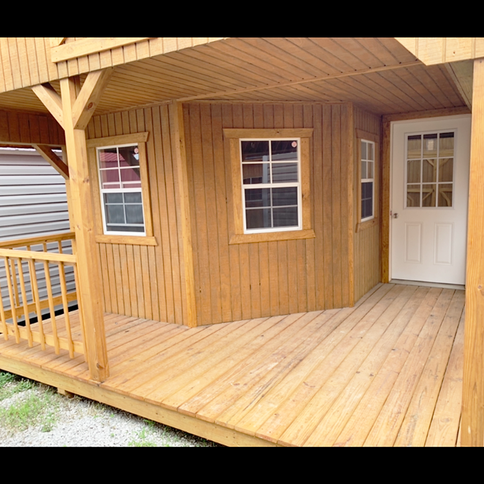 "14' X 32' Treated ""DLX Lofted Cabin"""