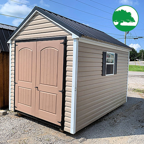 """PRE-OWNED 8' x 12' ' Vinyl """"Lofted Utility"""""""