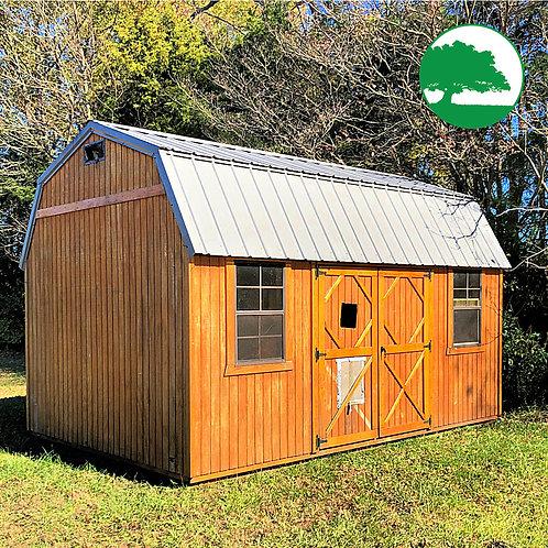 "PRE-OWNED 10' x 16' Treated ""Lofted Barn"""