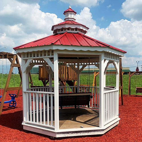 10' Octagon Gazebo with Double Roof