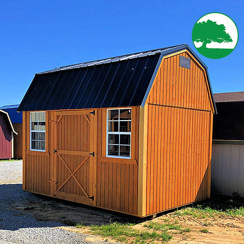 "*SOLD* 8' x 12' Treated ""Side Lofted Barn"""