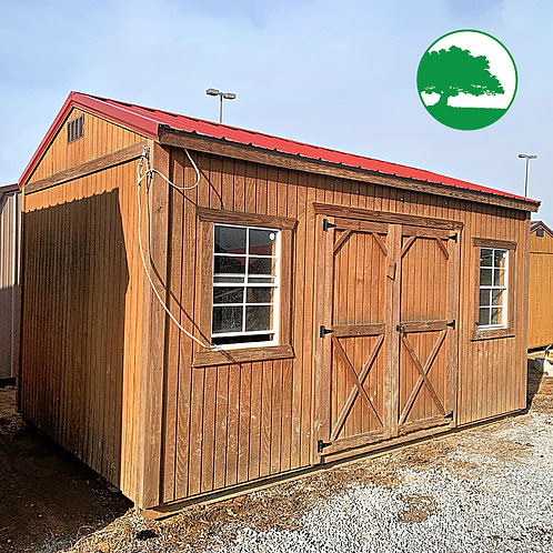 "*SOLD* PRE-OWNED 10' x 16' Treated ""Garden Shed"""