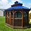 Thumbnail: 8' x 12' Oval Screened Gazebo with Double Roof