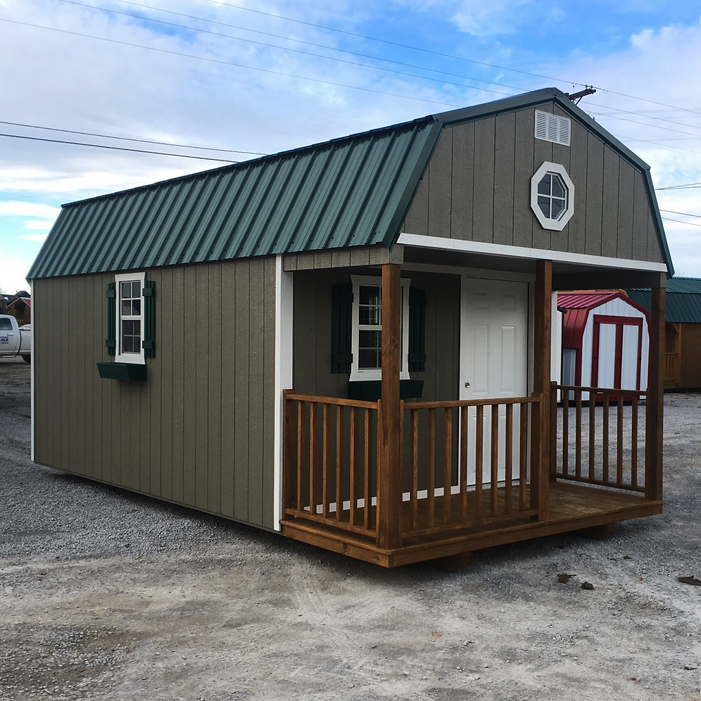 "10' X 20' Painted ""Lofted Cabin"""