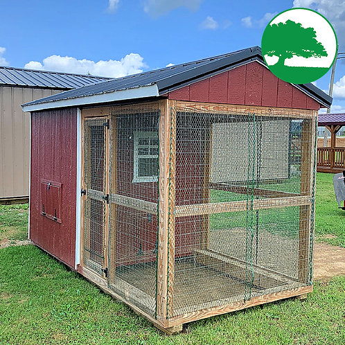 PRE-OWNED 6' x 12' Chicken Coop w/ Wire Run