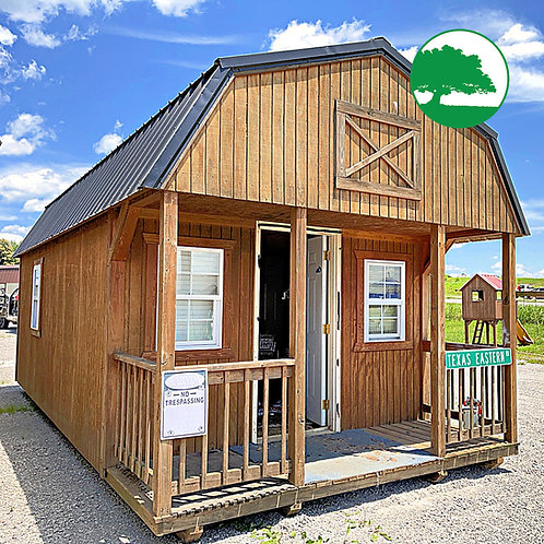 """PRE-OWNED 12' x 24' Treated """"Lofted Cabin"""""""