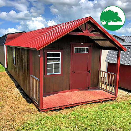 """PRE-OWNED 12' x 28' Painted """"Cabin"""""""