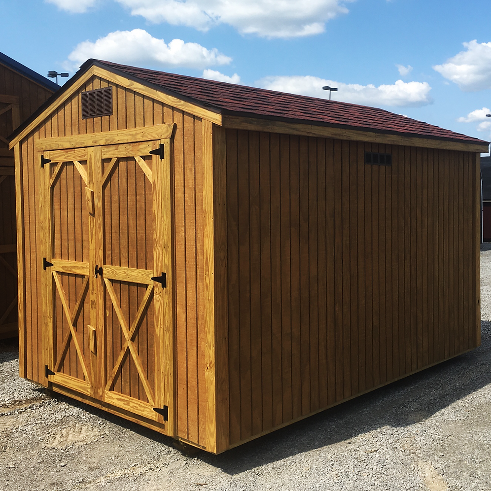 "*SOLD* 8' X 12' Treated ""Utility Shed"""